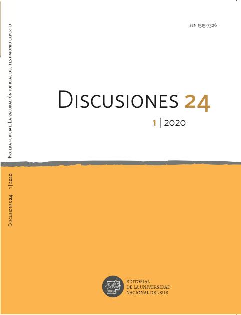 Ver Vol. 24 Núm. 1 (2020): Prueba pericial. La valoración judicial del testimonio experto