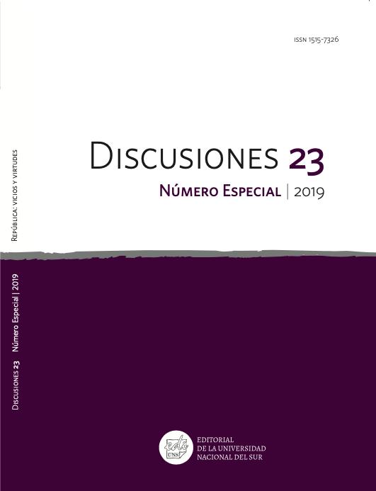 Ver Vol. 23 Núm. Especial (2019): República: vicios y virtudes