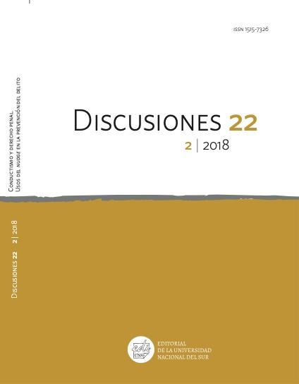 Ver Vol. 22 Núm. 2 (2018): Conductismo y derecho penal. Usos del nudge en la prevención del delito