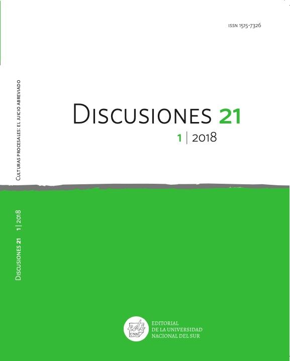 Ver Vol. 21 Núm. 1 (2018): Culturas procesales: el juicio abreviado