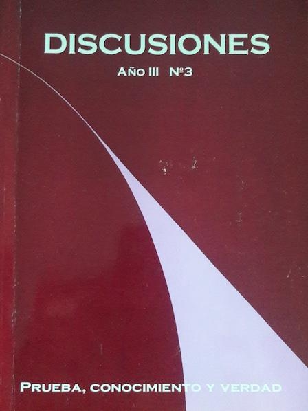 Ver Vol. 3 (2003): Prueba, conocimiento y verdad