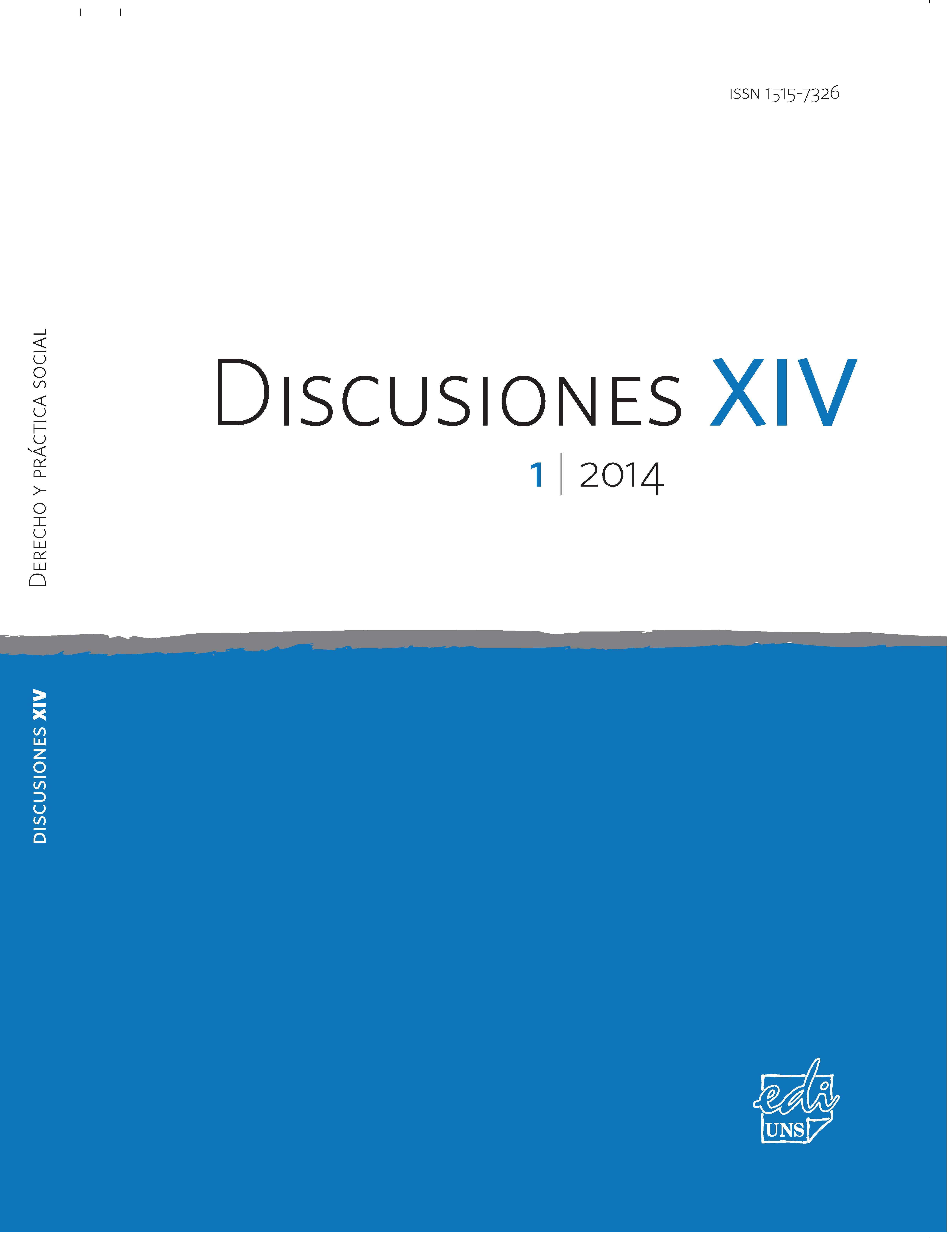 Ver Vol. 14 Núm. 1 (2014): Derecho y práctica social