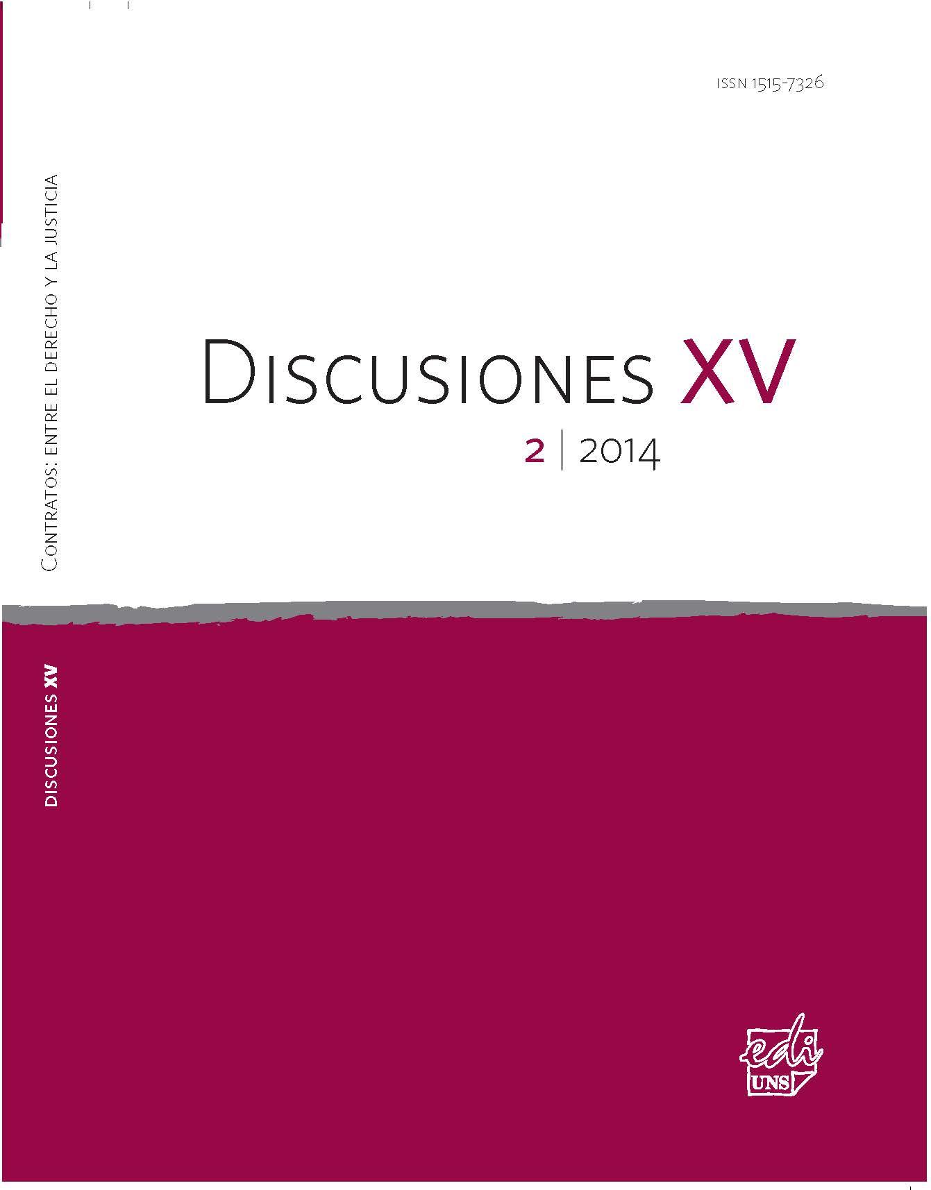 Ver Vol. 15 Núm. 2 (2014): Contratos: entre el derecho y la justicia