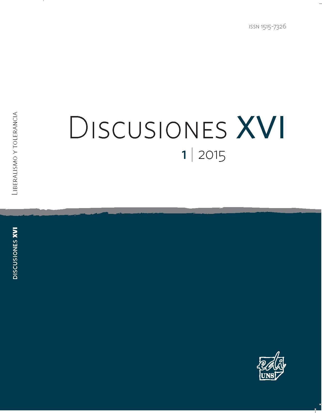 Ver Vol. 16 Núm. 1 (2015): Liberalismo y tolerancia