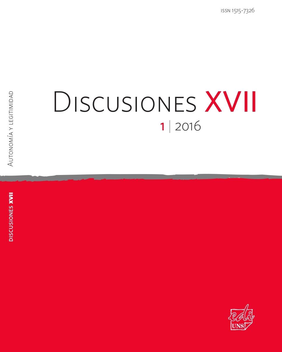 Ver Vol. 17 Núm. 1 (2016): Autonomía y Legitimidad