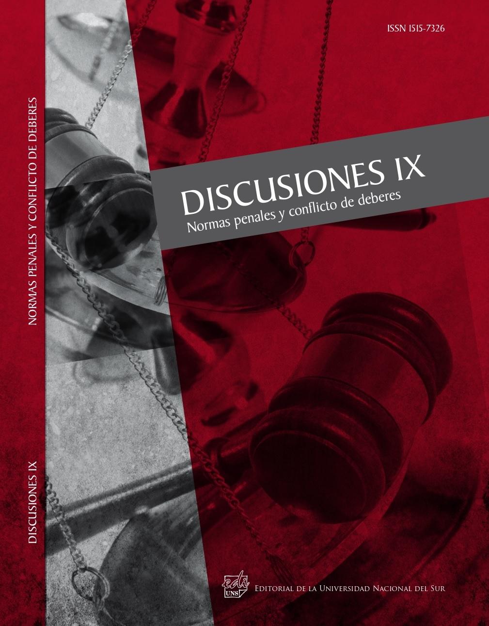Ver Vol. 9 (2010): Normas penales y conflicto de deberes