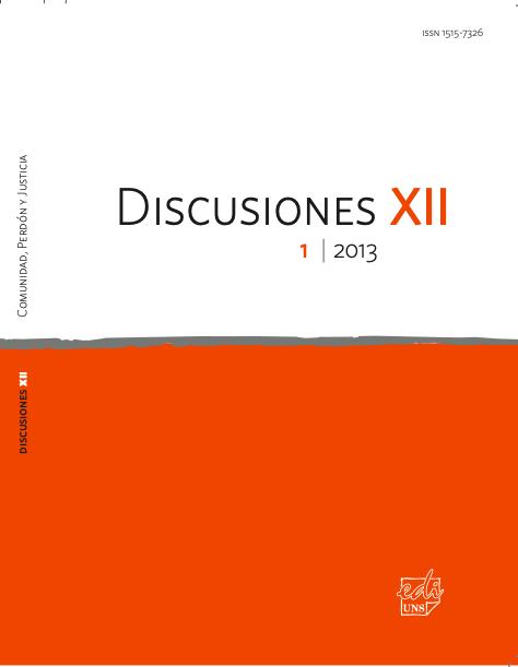 Ver Vol. 12 Núm. 1 (2013): Comunidad, Perdón y Justicia