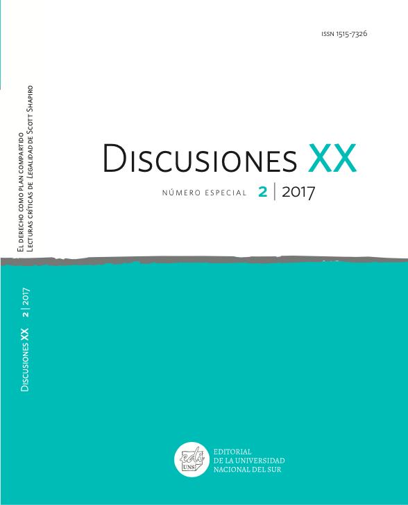 Ver Vol. 20 Núm. 2 Especial (2017): El derecho como plan compartido. Lecturas críticas de Legalidad de Scott Shapiro