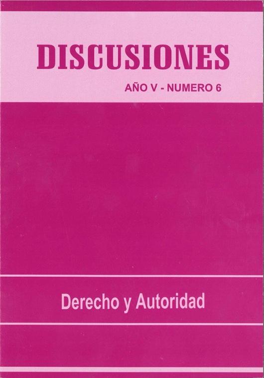 Ver Vol. 6 (2006): Derecho y Autoridad