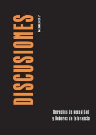 Ver Vol. 7 (2007): Derechos de necesidad y deberes de tolerancia