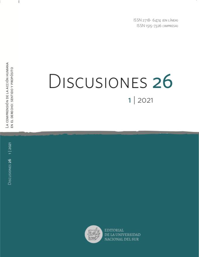 Ver Vol. 26 Núm. 1 (2021): La comprensión de la acción humana en el derecho: sentido y propósito